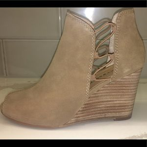 Lucky Brand Open Toe Wedge Boot